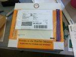 zapakowana przesyłka kurierska